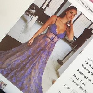 Beautiful lavender long prom dress never worn